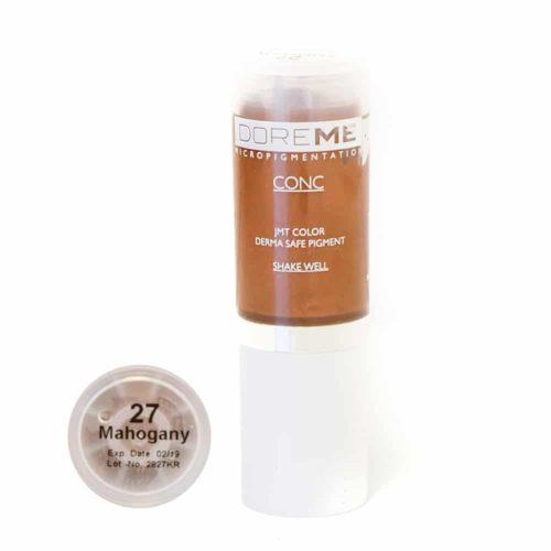 doreme concentrated permanent makeup pigment mahogany 2