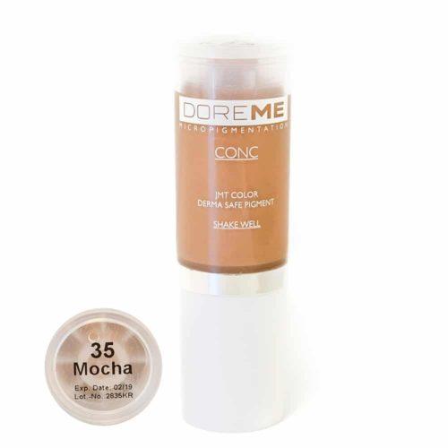 doreme concentrated permanent makeup pigment mocha 2