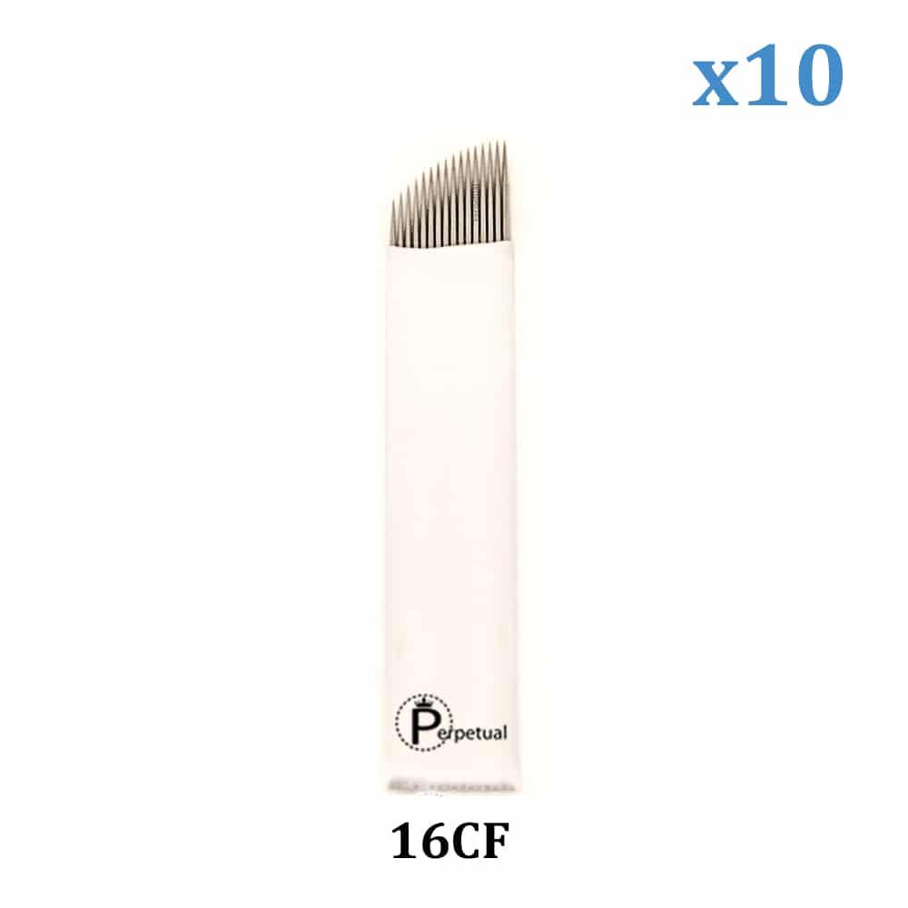 perpetual permanent makeup microblade 16 curved flat