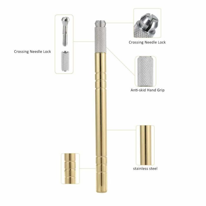 perpetual permanent makeup microblading gold handle