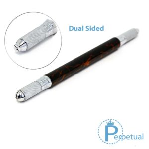 Perpetual permanent makeup microblading pen handle flare dual sided 2