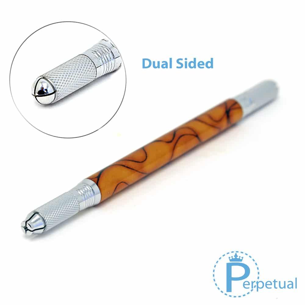 Perpetual permanent makeup microblading pen handle gaia dual sided