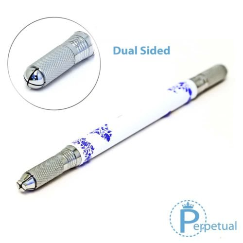 Perpetual permanent makeup microblading pen handle porcelain dual sided 3