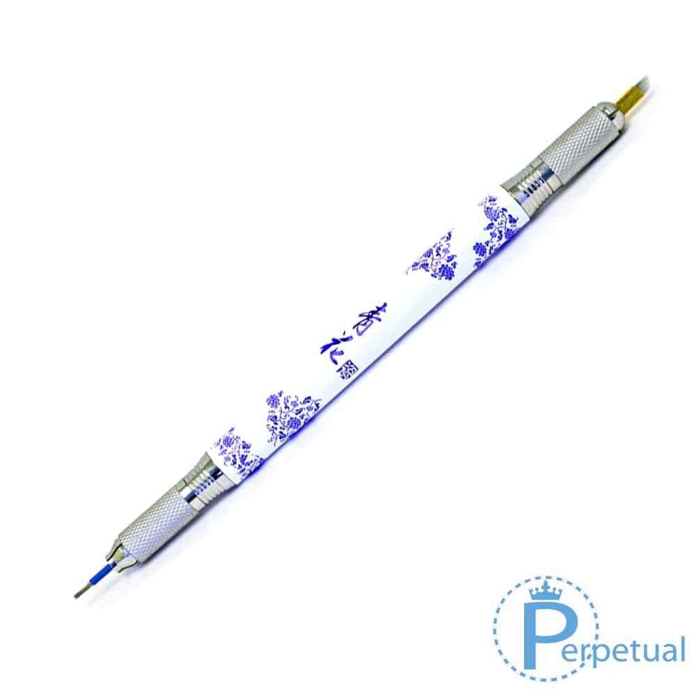 Perpetual permanent makeup microblading pen handle porcelain dual sided 6