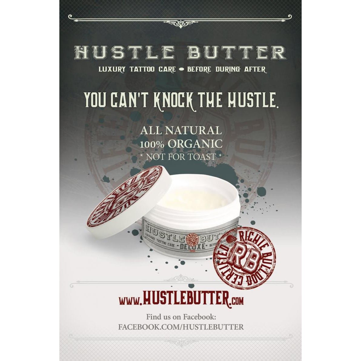 Hustle Butter Deluxe Before & After Tattoo