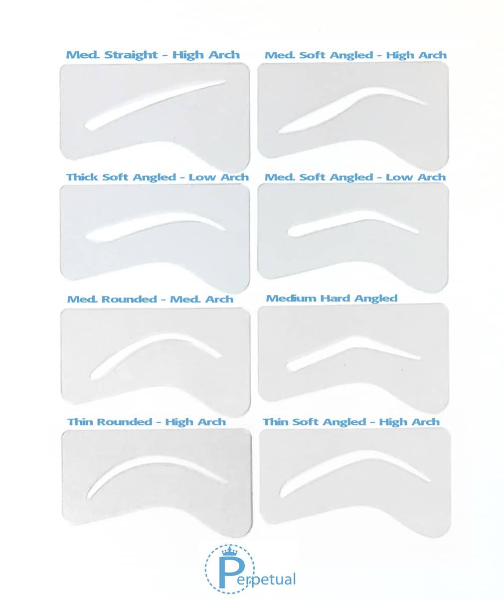 24 Lovely Eyebrow Stencils